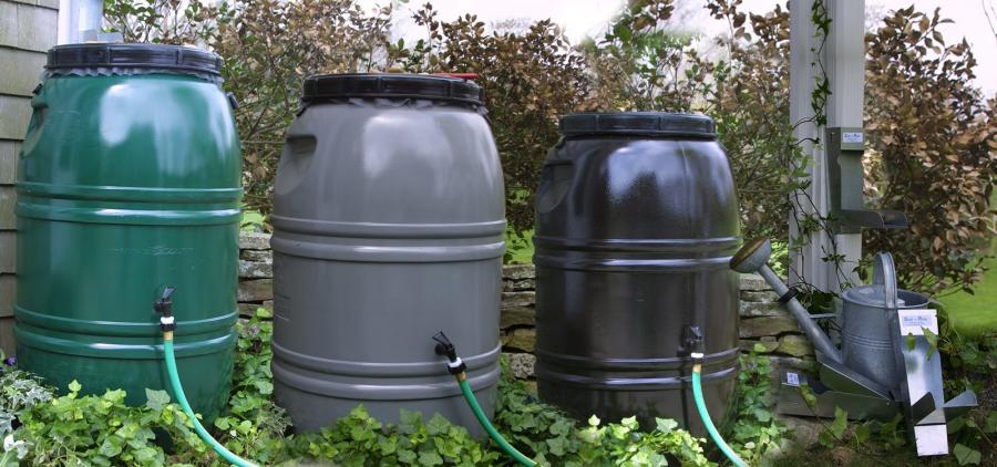 An image of rain barrels