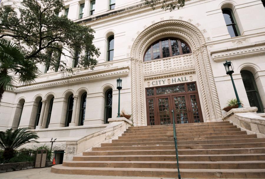 image of City Hall steps