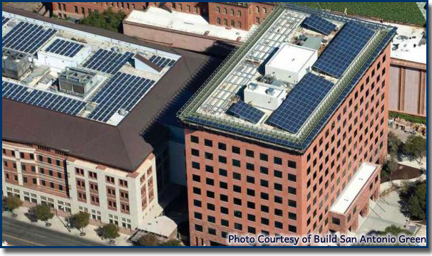 rooftop solar on commercial buildings