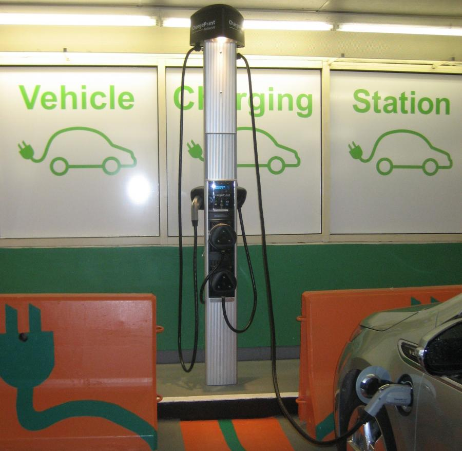 Image of an electric vehicle charging station