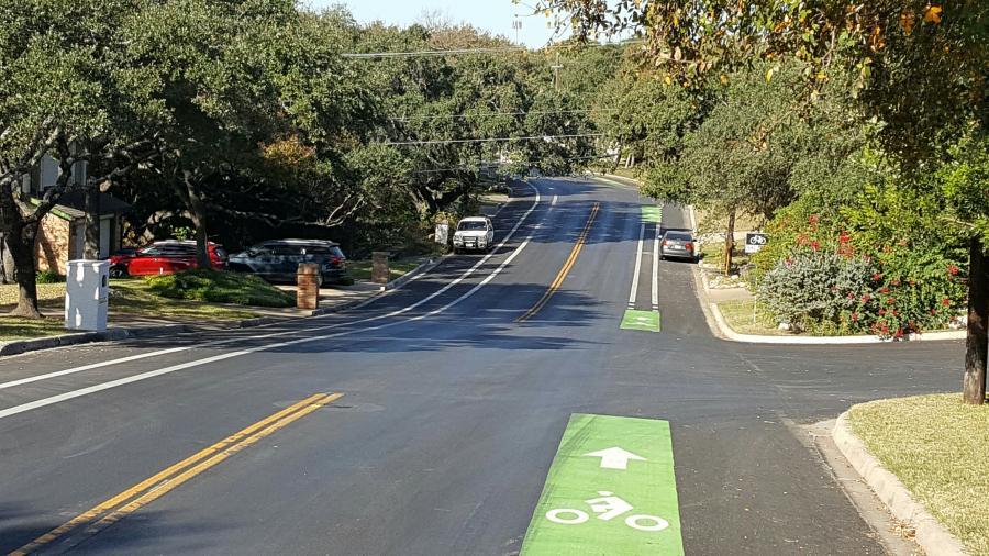 street with bike lane